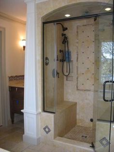 Lovely Brass Frame Swing Door Single Handle Entry Stand Up Shower And Bronze Head Shower Also Brown Marble Diagonal Tile Small Walk In Shower Design Ideas