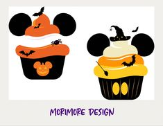 Mickey Cupcakes, Christmas Svg, Disney Food, Disney Stuff, Cricut Design, Sticker Designs, Clip Art, Silhouette Studio Designer Edition, Disney Halloween