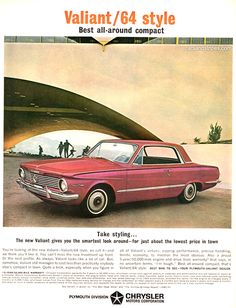 1964 Plymouth Valiant - Take styling - Original Ad
