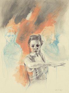 "Saatchi Art Artist michele petrelli; Drawing, ""flamenco11"" #art"