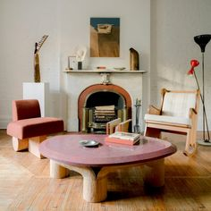 The dampening of creativity brought on by the coronavirus pandemic has prompted interior designer Olivier Garcé to transform his New York home into a show space for contemporary art and design. Red Coffee Tables, Coffee Table With Stools, Stone Coffee Table, West Village, Transformers, New York Office, Journal Du Design, Hidden Kitchen, New York Homes