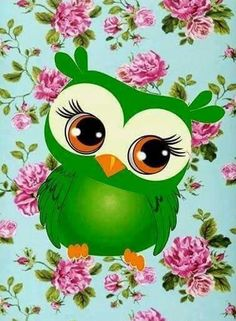 By Artist Unknown. Owl Wallpaper, Wallpaper Iphone Cute, Animal Wallpaper, Whimsical Owl, Owl Illustration, Owl Card, Owl Cartoon, Owl Pictures, Beautiful Owl