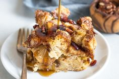 Easy French toast casserole with crunchy cinnamon-sugar top. Bake right away, or make ahead and refrigerate overnight!