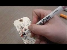 Tim Holtz Distress Marker Tutorial