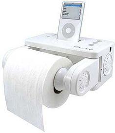 iPod Klo Einer meiner Favoriten: Wer wirklich in keinem Raum auf seinen iPod verzichten will, braucht dieses Klo-Sock für etwa 100 Euro.