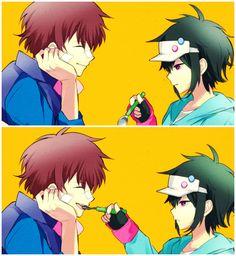 Nice y Hajime ~ Hamatora The Animation (Anime, Super Poderes, Shounen, Juegos, Misterio)