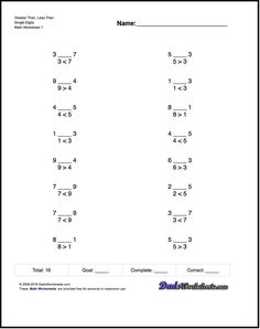 Free math worksheets for comparing improper fractions