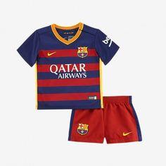 Günstige Barcelona 2015-16 Kinder Fußball Trikotsatz Heimtrikot