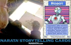 Card production. Narata Storytelling Cards is a deck of 100 illustrated cards for brainstorming stories and other creative work.