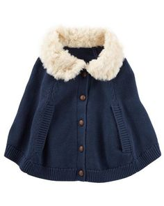 Baby Girl Faux Fur Poncho from OshKosh B'gosh. Shop clothing & accessories from a trusted name in kids, toddlers, and baby clothes.