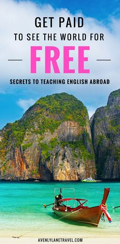 How To Get A Job Teaching English Overseas Teaching english abroad is one of the best and easiest ways to travel the world! Did you know you can even do it without a college degree? Click through to read our guide on how to get a job teaching English. Travel Jobs, Ways To Travel, Travel Advice, Places To Travel, Travel Destinations, Travel Hacks, Travel Quotes, Travel Ideas, Travel Guide