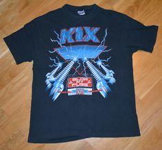 RaRe *1989 KIX* vintage rock concert tour t-shirt (L/XL) 1980's Glam Metal tee | eBay