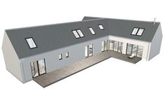 Architect Designed Kit Houses - Delivered, Erected And Built Bungalow Floor Plans, Bungalow Renovation, House Floor Plans, Bungalow Ideas, Farmhouse Renovation, Self Build House Kits, Self Build Houses, Bungalow Haus Design, Small Bungalow