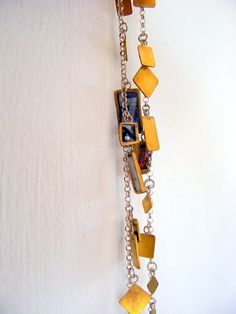 A SPECIAL NECKLACE!! OOAK, modern necklace, brass necklace, statment necklace, pendant necklace, letters necklace, artistic necklace