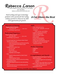 cosmetologist resume samples just out of school httpwwwjobresumewebsitecosmetologist resume samples just out of school resume job pinterest