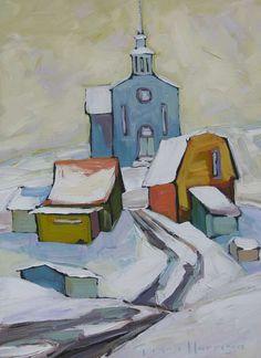 Village Québécois by Gordon Harrison, 18X14 | L'Académie Internationale des Beaux-Arts du Québec