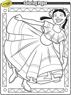 Cinco De Mayo Coloring Page Dance Coloring Pages Flag Coloring