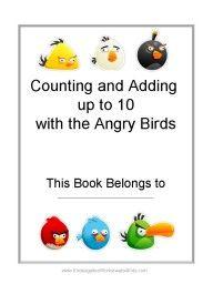 Angry Birds Math Worksheets for Kindergarten - Kindergarten Teacher Resources