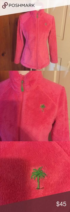 Lilly Pullitzer fleece jacket with palm tree Warm and cozy Jacket for Fall and works for all seasons! The palm tree gives it an eternal summer vibe though. Lilly Pulitzer Jackets & Coats