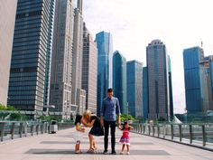 China With Kids: Shanghai Insider Travel With Kids, Family Travel, Travel Stroller, Magazines For Kids, Two Girls, Skyscrapers, Shanghai, Cute Kids, New York Skyline