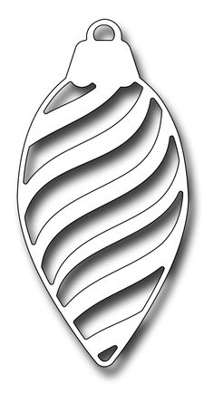 Frantic Stamper Precision Die - Striped Pinecone Ornament-The Striped Pinecone Ornament die measures x and matches perfectly with the Pin Christmas Stencils, Christmas Projects, Christmas Crafts, Christmas Ornaments, Christmas Ornament Template, Pinecone Ornaments, Ornament Crafts, Frantic Stamper, Scroll Saw Patterns