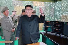 © KCNA/ REUTERS North Korean leader Kim Jong Un reacts during a test launch of ground-to-ground medium long-range ballistic rocket Hwasong-10 in this undated photo released by North Korea's Korean Central News Agency (KCNA).