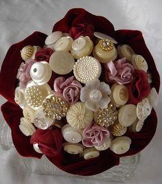 Button Floozies button bouquet