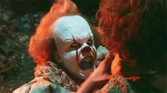 The first times that the kids from 'It' met Pennywise The Clown ended up being two of the creepiest scenes in the entire movie. Pennywise Tattoo, Creepy Clown, Scary, Evil Demons, Pennywise The Dancing Clown, First Encounter, Clowning Around, Bill Skarsgard, Evil Clowns