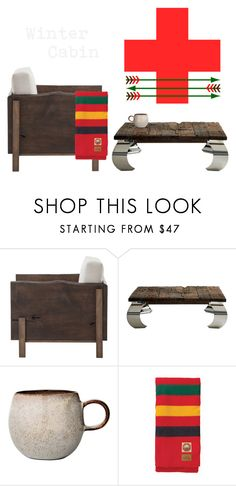 """""""House Mountain"""" by southernreef ❤ liked on Polyvore featuring interior, interiors, interior design, home, home decor, interior decorating, Andrew Martin, Bloomingville, Pendleton and cabinstyle"""