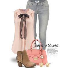 Jeans & Boots 2118 by boxthoughts on Polyvore featuring Paige Denim, Versace, Trina Turk and London Rebel