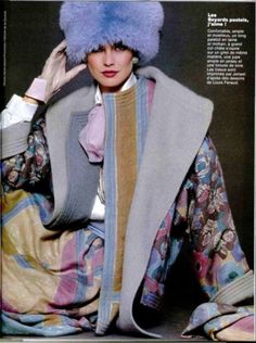 Carol Alt, the face of the Feraud brand in the early 1980s. Louis Feraud 1980s