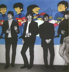 The Beatles with their cartoon characters. I so remember watching this!!