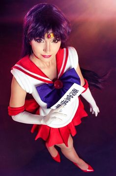 Mtxc Womens Sailor Moon Cosplay Rei Hino Shoes 1st Red