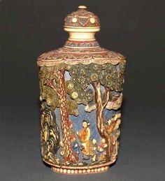 Antique Japanese Ivory Snuff Bottle