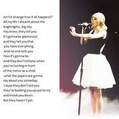 The introduction to the song the lucky one in the red tour