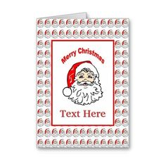 Customizable Santa Card Card ($3.50) found on Polyvore