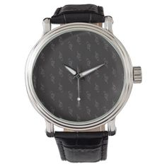 #floral - #Classy Elegant Black Tulips Pattern Delicate Cool Wrist Watches