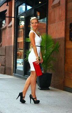 Little white dress-Jessica Simpson heels