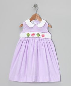 Take a look at this Lavender Cupcake Smocked Dress - Infant, Toddler & Girls by Silly Goose on #zulily today!