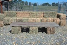 Outdoor couches made out of hay bales at a wedding. Outdoor couches made out of hay bales at a Hay Bale Couch, Hay Bale Seating, Hay Bales, Outdoor Couch, Outdoor Furniture, Outdoor Decor, Wedding Pinterest, Kentucky Derby, Making Out