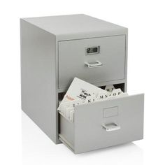 Miniature File Cabinet Storage for Business Cards with Built In Digital Clock - Stores up to 800 Business Cards - inches by inches - Multipurpose Use - Great as an Office Gift: Home & Kitchen Office Gadgets, Home Gadgets, Business Card Holders, Business Cards, Desk Toys, Thing 1, Cool Office, Future Office, Digital Clocks