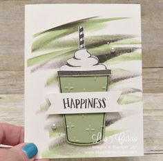 Frappucinno Happiness Coffee Cafe stamp set Stampin' Up! card paper craft scrapbook rubber stamp hobby how to DIY handmade Live with Lisa Lisa's Stamp Studio Lisa Curcio www.lisasstampstudio.com
