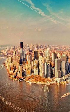 Bird's View - Manhattan, New York City