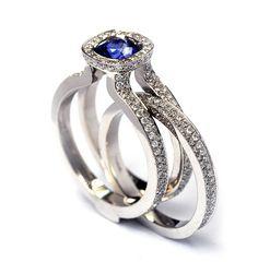 Bespoke Blue Sapphire Basileus style 3 by Andrew Geoghegan, www.andrewgeoghegan.com