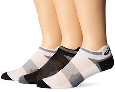 ASICS Unisex Quick Lyte Cushion Single Tab Socks 3 Pairs WhiteBlack Large -- Check out the image by visiting the link.Note:It is affiliate link to Amazon.