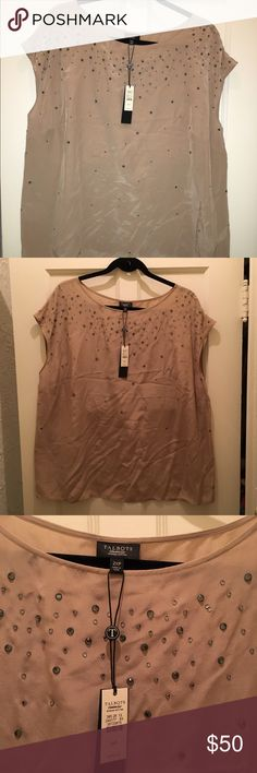 Talbots Embellished Champagne top Plus Size 2X Brand New! Talbots Embellished Champagne top. Plus Size 2XP. I am not petite and it fits a regular 2X perfectly. Cap Sleeve. Wrinkled from packing. Purchased brand-new for $149 Talbots Tops Blouses