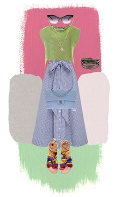 Untitled #131 by oksian on Polyvore featuring polyvore, fashion, style, Issey Miyake, Lisa Marie Fernandez, Elina Linardaki, Chanel, Arunashi, Gucci and clothing
