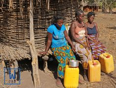 These women are taking a rest after walking miles just to get dirty water. Wells eliminate the need to walk all day!