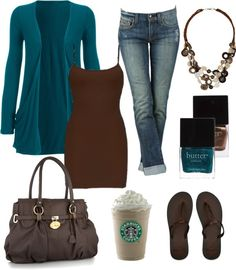 "I want - especially the coffee!!!  another poster said: ""This cardigan...$11. I WANT IT!"" by chelseawate on Polyvore"