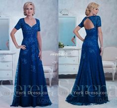 001e81f7b775f Royal Blue Lace Mother of the Bride Dresses for Wedding Backless Sweetheart  Short Sleeve Applique Beaded 2016 Plus Size Formal Evening Gowns